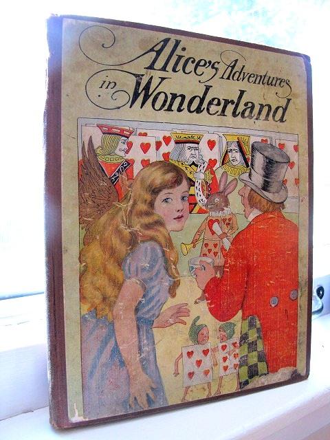 アンティーク本・洋書★「不思議の国のアリス」 童話集 1929年 大判