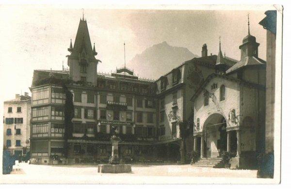 画像1: スイス Grand Hotel Couronnes el Poste (1)