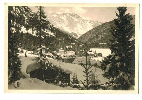 画像1: スイス 冬の風景 Lac Champex Vue generale (1)