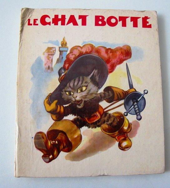 画像1: アンティーク童話集絵本 長靴をはいた猫 Le Chat Botte 1956年 (1)