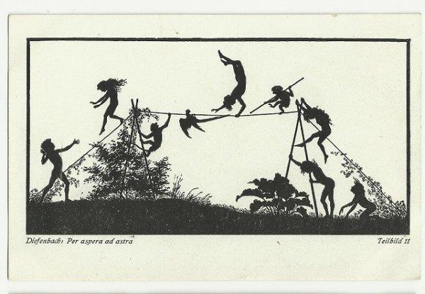 画像1: 妖精と動物たちの綱渡り シルエット (1)