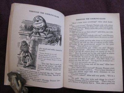 画像2: アンティーク本・洋書★不思議の国のアリス&鏡の国のアリス 1920年代頃 ブランデージ