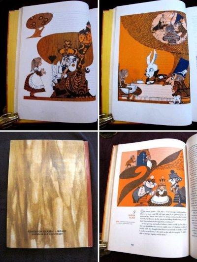 画像2: ヴィンテージ本・洋書★不思議の国のアリス&鏡の国のアリス 1970年 カラー大判