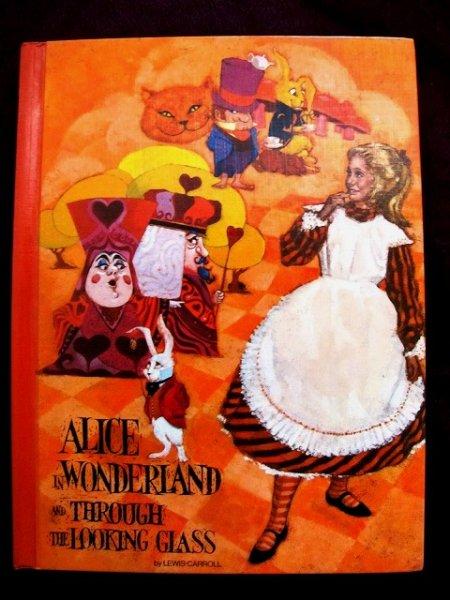 画像1: ヴィンテージ本・洋書★不思議の国のアリス&鏡の国のアリス 1970年 カラー大判 (1)