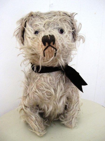 画像1: Vintage Stuffed Toy  アンティーク 古い犬のぬいぐるみ 長毛タイプ 32cm (1)
