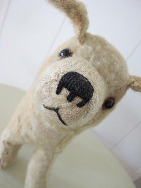 画像1: Vintage Stuffed Toy  アンティーク 古い犬のぬいぐるみ 立ち耳 イギリス (1)