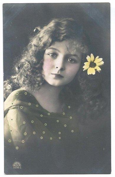 画像1: Postcard  美しい女の子 1913年  (1)