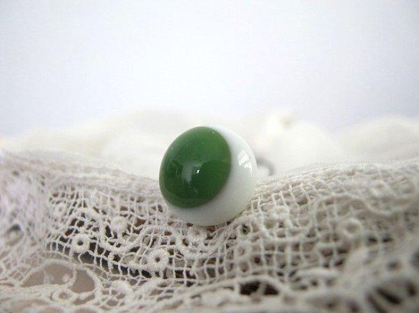 画像1: Antique Glass Eye アンティーク ジャーマングラスアイ ドイツ製 ポンチ目 グーグリー 緑14mm (1組) (1)