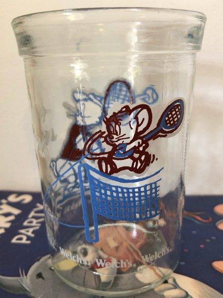 画像1: Vintage Glass アメリカンビンテージ グラス Welch's トム&ジェリー テニス (1)