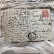 画像3: Postcard スズランのお花と女の子 スペイン1909年 (3)