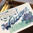 画像1: Postcard   ウェルカムカード スミレのお花 (1)