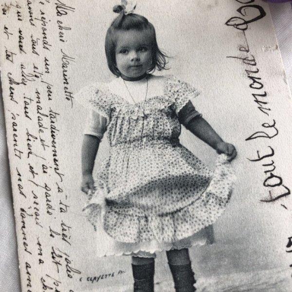 画像1: Postcard  小さな女の子 1903年 (1)