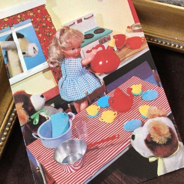 画像1: Postcard  お人形さんのティータイム イギリス (1)