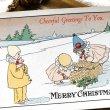 画像1: Postcard クリスマス 小さな可愛い道化師さんと逃げ出す子豚 Pauli Ebner ? 未使用 (1)