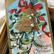 画像1: Postcard クリスマス ヤドリギとベル  (1)