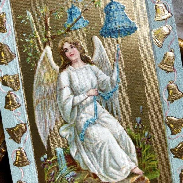 画像1: Postcard イースター ベルを鳴らす天使 (未使用) (1)