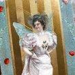 画像1: Postcard ドレスの妖精 テントウムシ アメリカ1909年 (1)