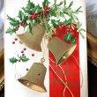 画像1: Postcard クリスマス ホーリーとヤドリギと3つのベル Ellen Clapsaddle 1909年   (1)