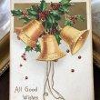 画像1: Postcard クリスマス ホーリーと3つのベル Ellen Clapsaddle    (1)