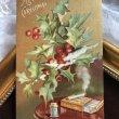 画像1: Postcard クリスマス ホーリーとタバコ アメリカ1906年 (1)