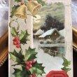 画像1: Postcard クリスマス 雪景色 ベルとホーリー (1)