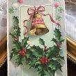 画像1: Postcard クリスマス ホーリー ベル アメリカ1908年 (1)