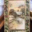画像1: Postcard クリスマス 雪景色の水車小屋 ホーリー (1)