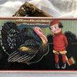 画像1: Postcard 感謝祭 サンクスギビング 斧を持った男の子と七面鳥 (1)