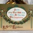 画像1: Postcard クリスマス ホーリーガーランド アメリカ1911年 (1)