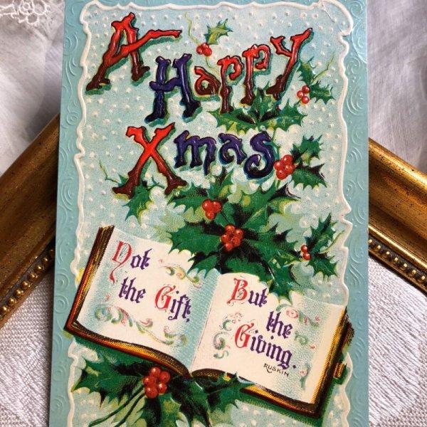 画像1: Postcard クリスマス ホーリー 本  (1)