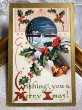画像2: ▼SALE 500▼ Postcard クリスマス ベルとホーリー (2)