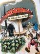 画像3: Postcard 新年祝い New Year 四葉を運ぶノーム妖精 キノコの休憩所 (3)