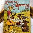画像1: Postcard イースター 歌うウサギとデビルの指揮者 キノコ 1908年 (1)