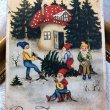 画像1: Postcard キノコのお家とノーム妖精 ラトビア1935年 (1)