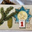 画像1: Postcard  新年祝い お月様とカラマツ  (1)
