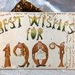 画像1: Postcard  新年祝い 1907年 人文字 (1)
