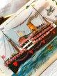 画像2: Postcard バレンタイン 薔薇のお花とハートの蒸気船 ツバメ Ellen Clapsaddle  (2)