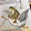 画像2: Trade card 香水を持って旅をするガチョウとカエル (2)