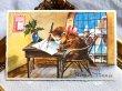 画像1: Postcard  Bonne Annee  お手紙と猫さん フランス (未使用) (1)