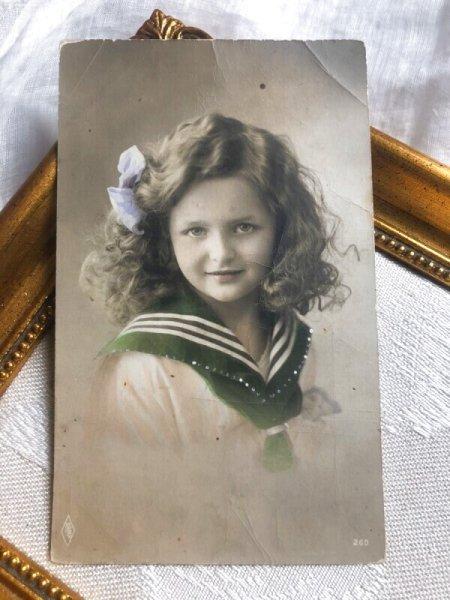 画像1: Postcard  美しい女の子 セーラー服  (1)