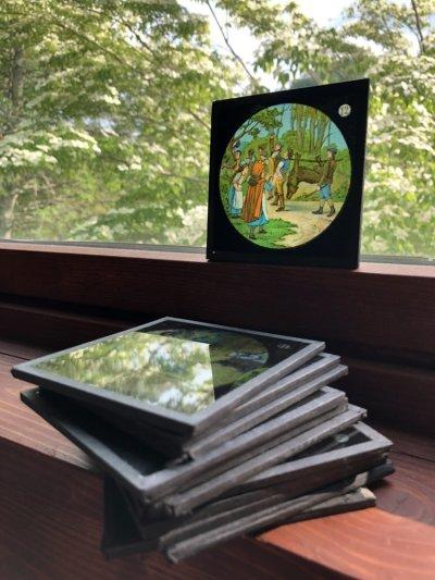 画像1: Antique Magic Lantern Glass Slide アンティーク マジックランタン・スライド 赤ずきんちゃん 4