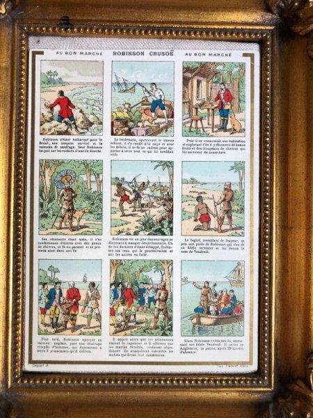 画像1: Bon Marche   ボンマルシェカード 童話 Robinson Crusoe ロビンソンクルーソー (1)