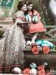 画像2: Postcard イースター ママと女の子 卵 フランス (2)