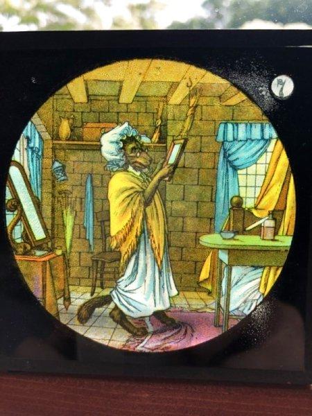 画像1: Antique Magic Lantern Glass Slide アンティーク マジックランタン・スライド 赤ずきんちゃん(7) (1)